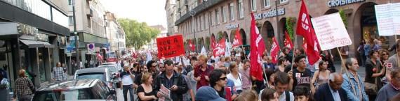 Lors de la manifestation contre la réforme des retraites en septembre 2010 (Photo _MekTouB_ / FlickR / CC)
