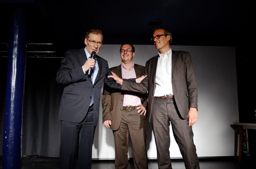 Armand Jung, Mathieu Cahn, Philippe Bies, trio socialiste (Photo David Rodrigues)