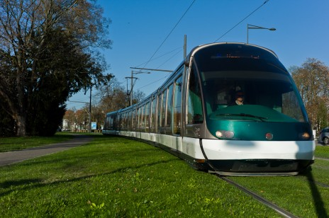 "Le tram fer ira des Poteries à Schiltigheim puis Bischheim, en ""tengeantant"" la gare (Photo Matthieu Mondoloni)"