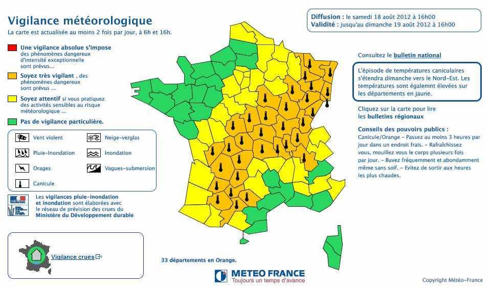 Canicule : l'Alsace passe en vigilance orange