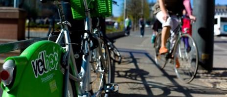 Le Vélhop a été lancé en septembre 2010 à Strasbourg (Photo Matthieu Mondoloni)