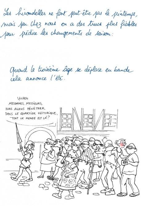 Le troisième âge à Strasbourg annonce... (Dessin Emilie Ruffier)
