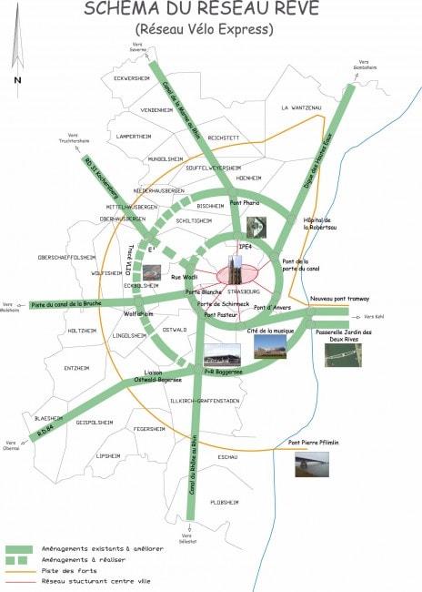 Carte du réseau REVE