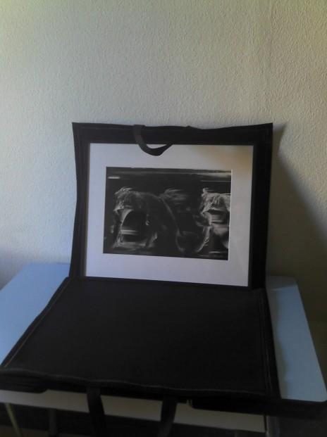 """Patrick Bailly-Maître-Grand, De la série"""" Formol's Band"""", 1987. Chez moi avant de l'accrocher ! Photo: C.R."""