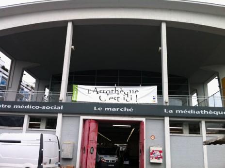 Vue de l'artothèque de Strasbourg à Neudorf.