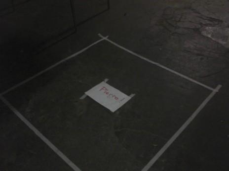 """Vue du montage de l'exposition """"l'immaculée conception"""" à la SemenceRie. Photo: CR"""