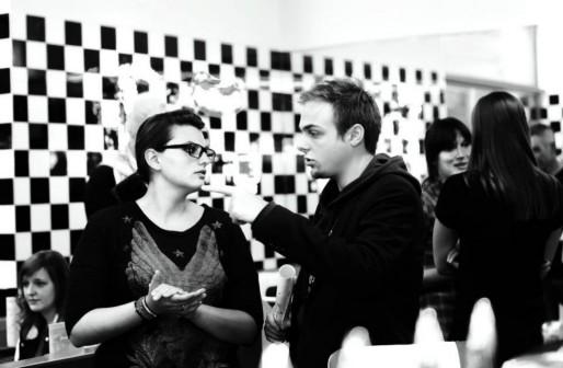 Bruno Barrazzutti et Wendy Cairoli sur le tournage pour Franky's