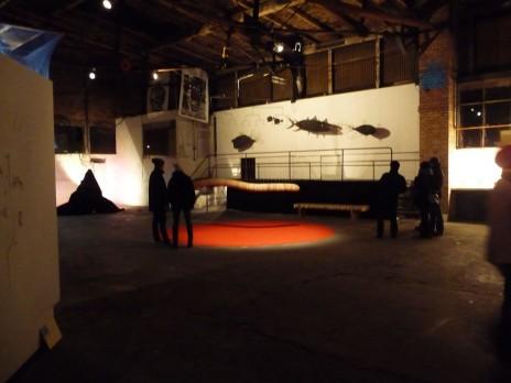 """Vue de l'exposition """"l'immaculée conception"""" à la SemenceRie. Photo: CR"""