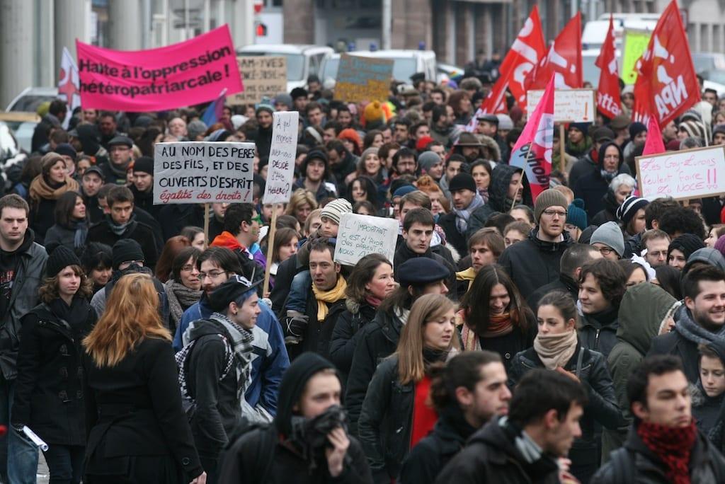 [Diaporama] La manif pro-mariage pour tous a rassemblé 5000 personnes à Strasbourg
