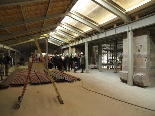 Dernier étage : la salle de lecture sera surplombée par le dôme.