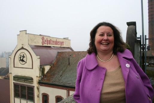 Marie-Lorraine Muller, qui s'est longtemps battue pour récupérer son patrimoine familial, veut relancer la bière Schutzenberger (Photo MM)
