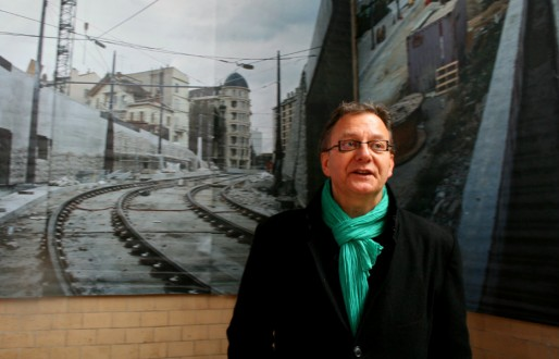 Alain Jund, adjoint au maire de Strasbourg (EELV) en charge de l'urbanisme (Photo MM/Rue89 Strasbourg)