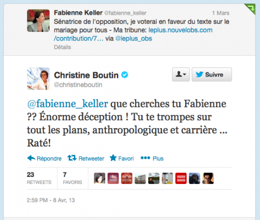 Capture du compte Twitter de Christine Boutin (MM)