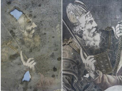 Document avant et après restauration
