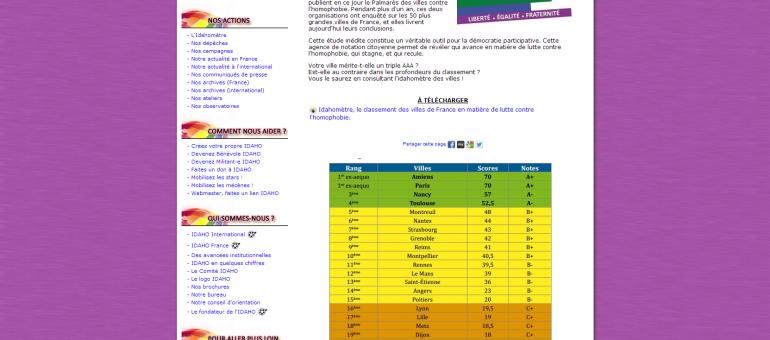 Strasbourg 7eme au classement des villes luttant contre l'homophobie