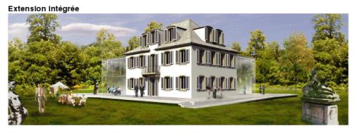 Extension prévue de la villa Wach (Visuel CUS - 2012)
