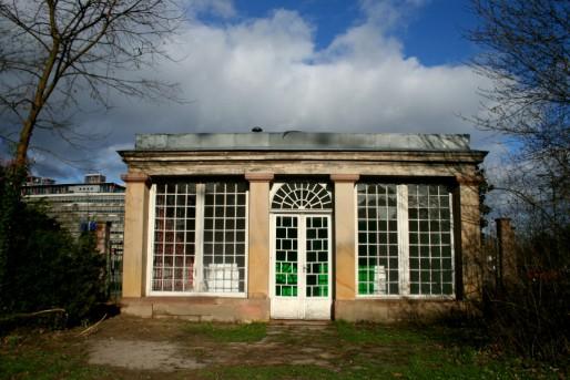 Le pavillon dans le parc accueillera des visiteurs (Photo MM)