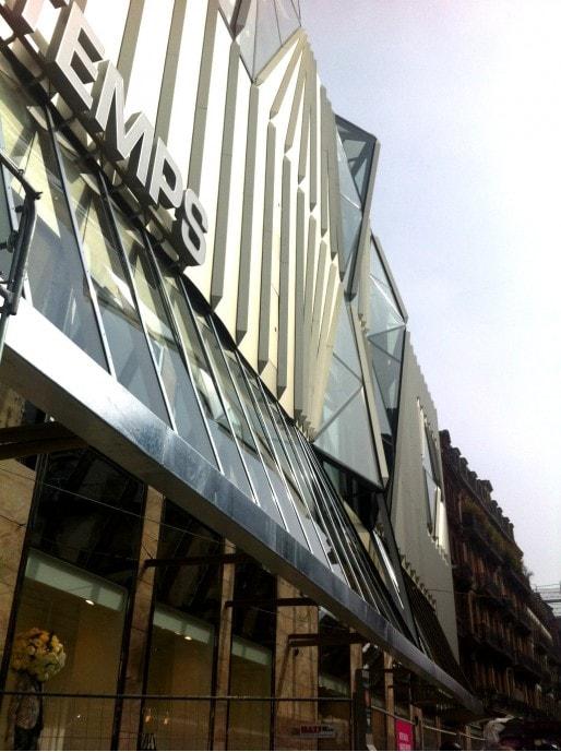 """La façade, façon """"peau plissée"""" de Christian Biecher (Photo MM/Rue89 Strasbourg)"""