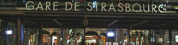 La gare de Strasbourg, point de départ vers l'exil pour certains alsaciens (Photo Vanessa Jollet)