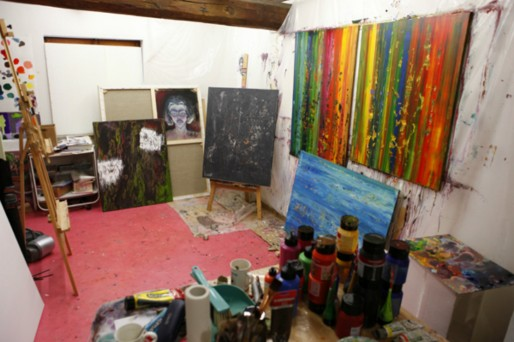 Atelier d'Aurélie Billat Mollkirch (photo fournie par l'artiste)