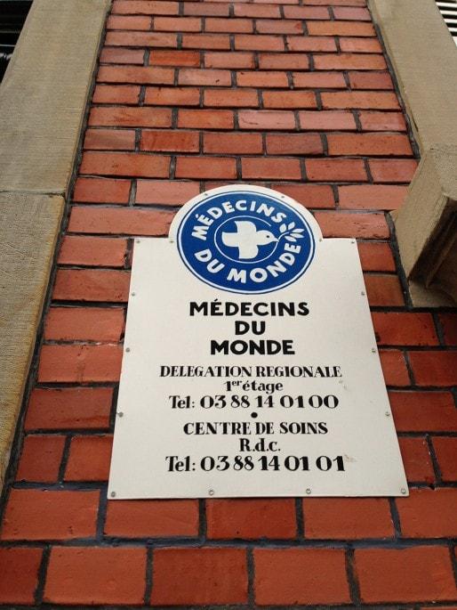L'entrée de Médecins du Monde (Photo KR / Rue89 Strasbourg)