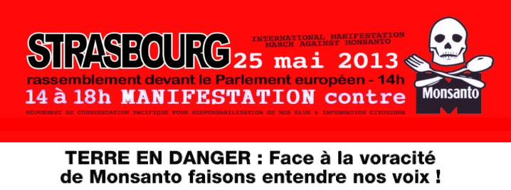 Manifestation contre Monsanto, 25 mai au Parlement Européen