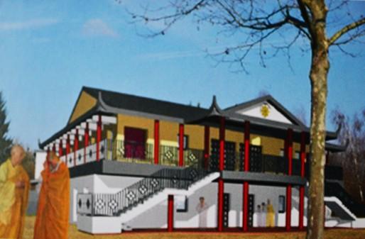 Un plan de ce que pourrait être la pagode Phô Hiên à la Robertsau