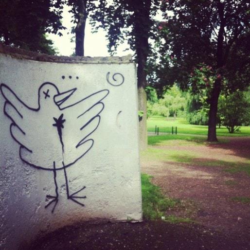 Le parc Eugène-Imbs, dont l'entrée se situe au début de la route de Schirmeck (Photo MM / Rue89 Strasbourg)