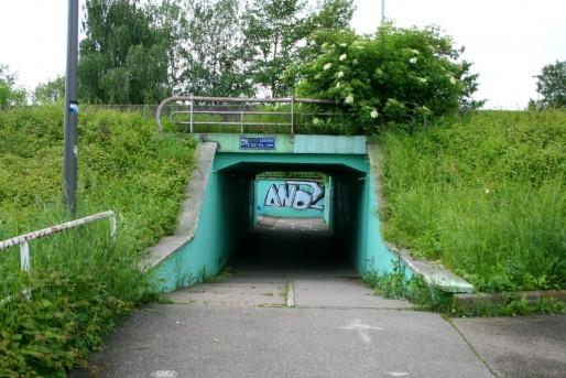 Pour accéder aux quartiers ouest de Strasbourg, un dédale de pistes cyclables et cheminements piétons, voies ferrées, autoroutes (Photo MM / Rue89 Strasbourg)