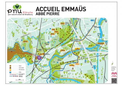 Plan du parc naturel urbain de Strasbourg (Document CUS)