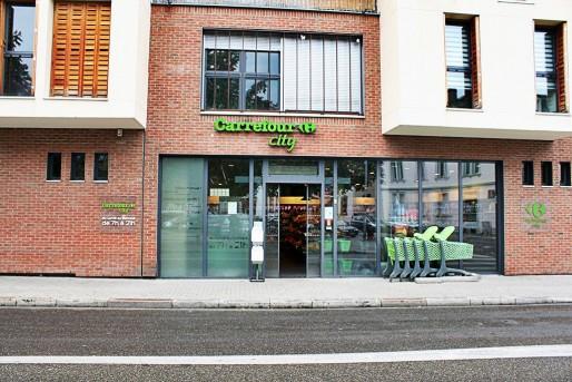Carrefour City a été condamné à fermer le dimanche, sous peine d'une astreinte de 10 000€ (Photo Kevin Roecker / Rue89 Strasbourg)