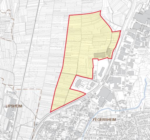 Le périmètre étudié dans le cadre de la ZAC s'étend sur une centaine d'hectares, divisé en deux zones de 50 hectares (Document CUS)