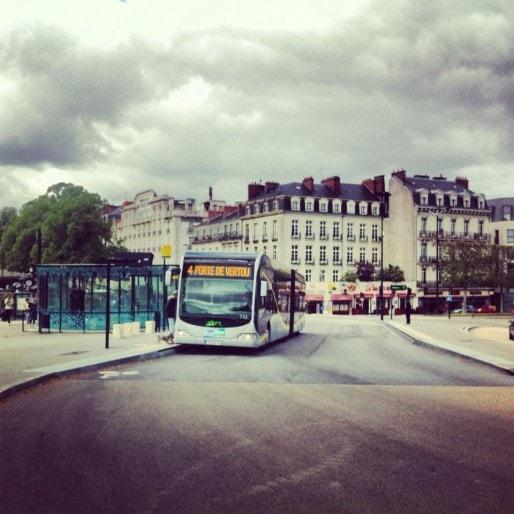 BHNS de Nantes, le Busway (Photo MM / Rue89 Strasbourg)