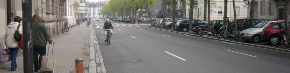 Boulevard de Lyon, le 1er mai (Photo MN / Rue89 Strasbourg)