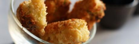 Brochette porc et poireau au panko-Feuille de choux