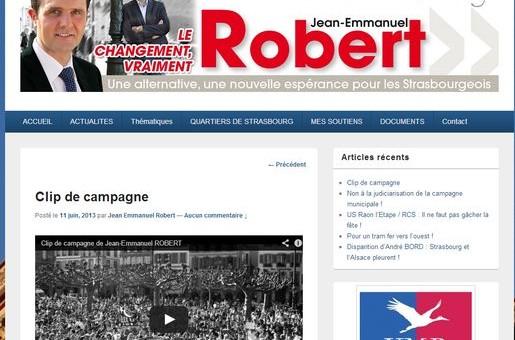 Clip de campagne de Jean-Emmanuel Robert, ringard