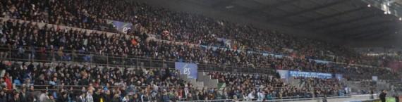 6 avril 2013 : le derby contre Mulhouse se joue devant plus de 20 000 personnes à la Meinau. Malheureusement, le spectacle ne fut guère à la hauteur (0-0).