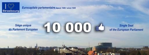 """La page Facebook """"Vers un siège unique du Parlement européen à Strasbourg"""" a atteint les 10 000 fans (DR)"""
