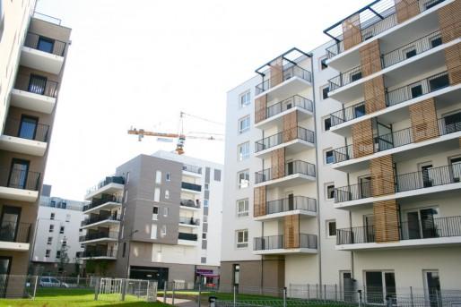 L'ensemble du Bruckhof est déjà en partie habité. La partie privée (au sud du site) est en cours de finition (Photo MM / Rue89 Strasbourg)