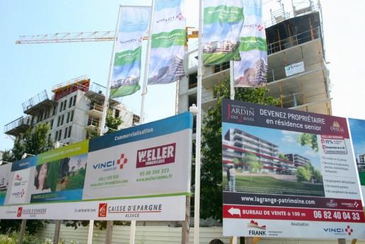 Trois promoteurs se partagent le complexe : Vinci, Weller et Franck immobilier (Photo MM / Rue89 Strasbourg)