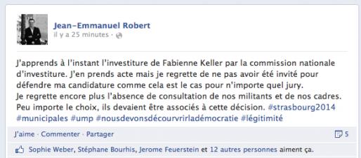 Capture page Facebook de Jean-Emmanuel Robert (MM)