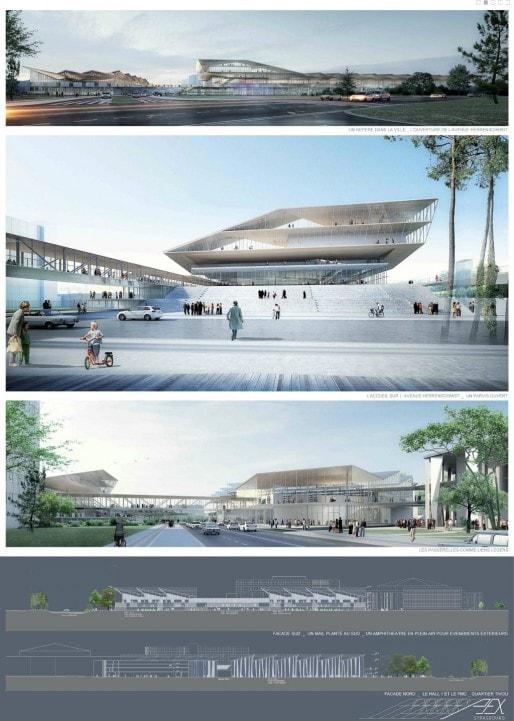 Le futur Parc des expositions de Strasbourg, mis en service avant la fin de la décennie (Crédit Dietmar Feitinger)