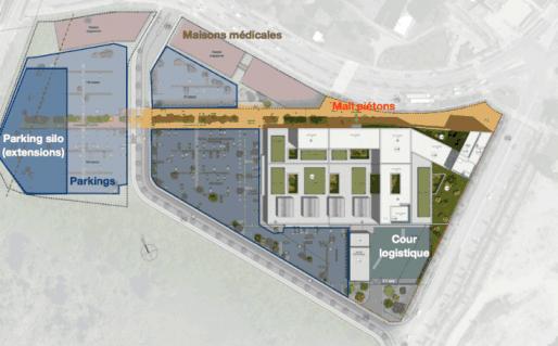 Les cliniques Sainte-Odile, Adassa et Diaconnesses seront regroupées fin 2016 au Port-du-Rhin (Document remis)