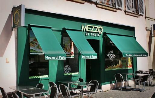 Le restaurant Mezzo di Pasta rue des Balayeurs (Photo PHR / Rue89 Strasbourg / CC)