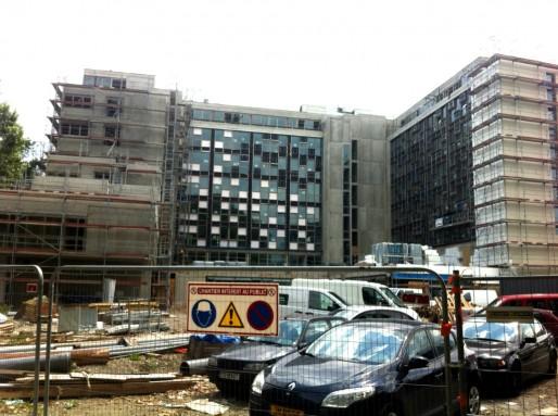 Futur siège de CUS Habitat et Habitation moderne au Heyritz (Photo MM / Rue89 Strasbourg)