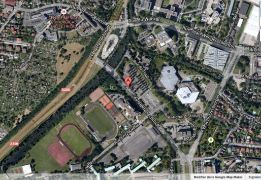 Plan du secteur PEX-PMC (Google map)