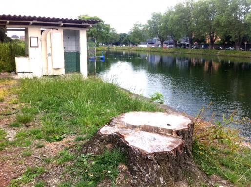 Dans un an, exit les aménagements du port de plaisance déménagé plus loin (Photo MM / Rue89 Strasbourg)