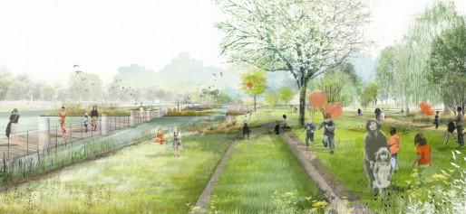 Le quai sera abaissé pour permettre l'accès du public à l'eau et l'amélioration de la biodiversité sur les berges (Photo MM / Rue89 Strasbourg)
