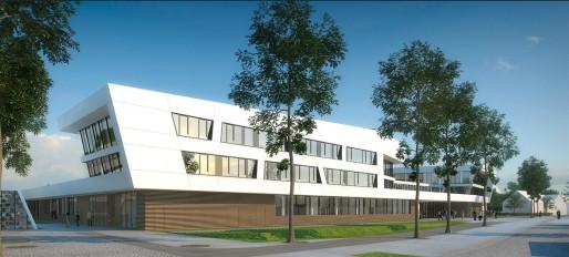 L'école européenne de Strasbourg s'installera dans ses nouveaux locaux à la rentrée 2015 (Visuel Auer+Weber, cabinet d'architectes de Munich)