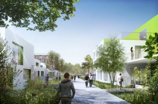 Les premiers immeubles de l'écoquartier Danube sortiront de terre en 2014 (Document remis)
